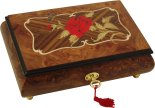 Wooden Inlaid Musical Jewellery Boxes