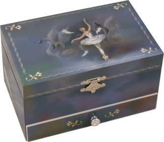 Odette Swan Lake Ballet Music Box, Ballerina Musical Jewellery Box