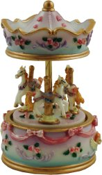 Miniature Musical Carousel