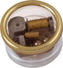 Musical Paperweight with Reuge Romance Movement