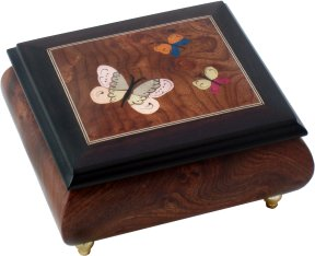 Inlaid Musical Ring Box