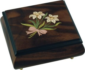 Inlaid Musical Ring Box in Walnut
