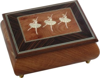 Ballerina Dancer Musical Jewellery Box from Music Box World UK Burr
