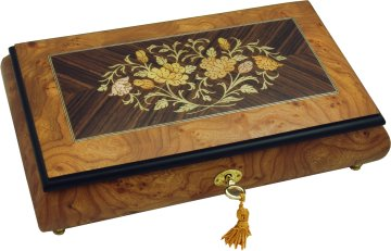 Musical Jewellery Box fitted with a Swiss Reuge 18 note musical movement