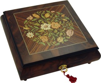 Musical Jewellery Box fitted with a Swiss Reuge 36 note musical movement
