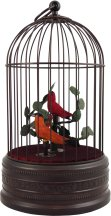 Antiqued Style Mechanical Bird Cage